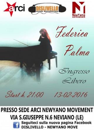 Spettacolo musicale.. ospite della serata: Federica Palma